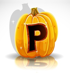 Halloween Pumpkin P vector image