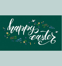 happy easter greeting on school board spring vector image