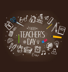 happy teachers day concept vector image