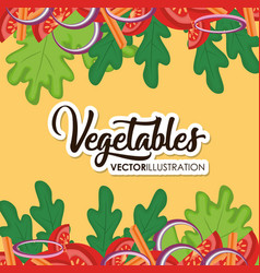 Healthy vegetables design vector