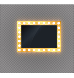 hollywood lights illuminated realistic banner vector image