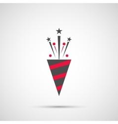 Icon Christmas slapstick for holiday season vector image