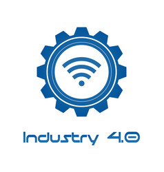 Industry 40 in involute gear with wireless vector