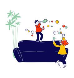 Kids fooling game naughty hyperactive children vector
