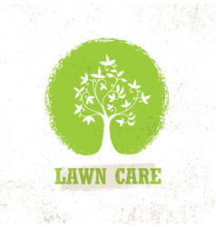 Lawn care creative organic sign concept vector