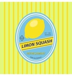 Limon squash retro fruit label vector