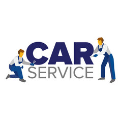 Logo template for service or car repair vector