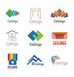 Logos of ceilings floors vector