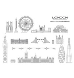 london skyline line art 1 vector image