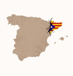 Map of catalan independence vector