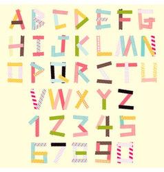 masking tape alphabet vector image