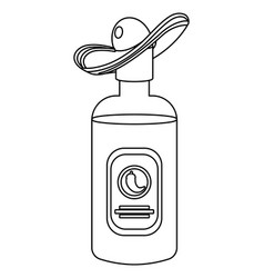 Mexican tequila bottle cartoon vector