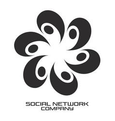 modern social group logo vector image