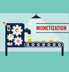 Money machine monetization concept vector