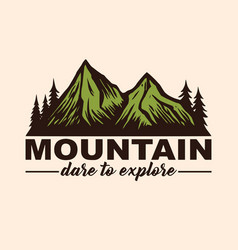 Mountain adventure logo emblems and badges camping vector