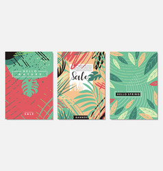 nature floral set banners vector image