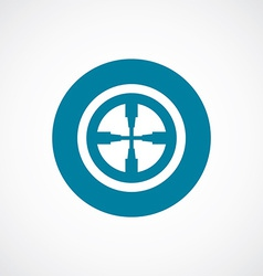 optical sight icon bold blue circle border vector image