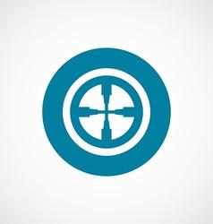optical sight icon bold blue circle border vector image