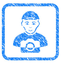 Paparazzi framed stamp vector