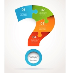 Question mark abstract design and infographics vector