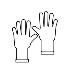 Rubber gloves isolated icon vector
