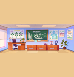 school classroom for biology learning vector image