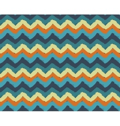 Sea Beach Painted Zigzag Pattern vector image