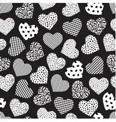 seamless geometric heart vector image
