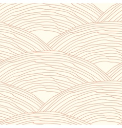 Seamless pattern with abstract doodle wavy scale vector