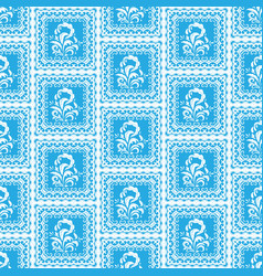 simple blue pattern vector image