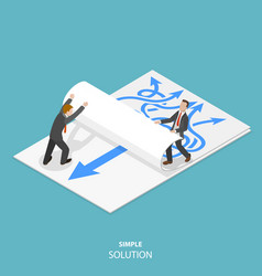 simple solution flat isometric concept vector image