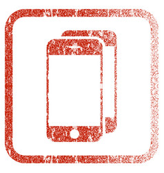 Smartphones framed textured icon vector