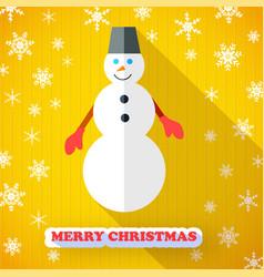 Snowman holiday postcard vector