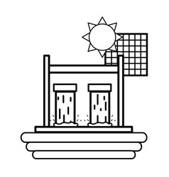 Solar energy cell vector