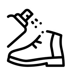 spray paint shoe icon outline vector image