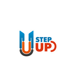 step up emblem vector image