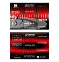 Tri-fold technology Style Brochure Layout Design T vector