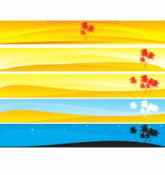 Tropical and palm banner vector