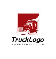 truck symbol logo design template vector image