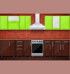 typical modular kitchen vector image