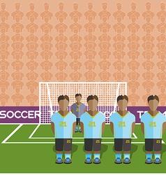 Uruguay Soccer Club Penalty on a Stadium vector