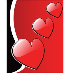valentines hearts eps 8 vector image