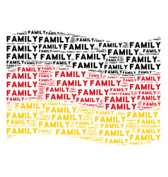 Waving german flag pattern of family text items vector