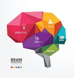 Brain Design Conceptual Polygon Style vector image vector image