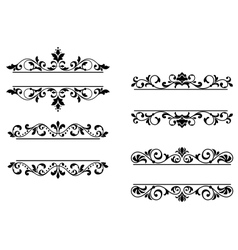 Floral headers and borders vector