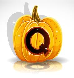 Halloween Pumpkin Q vector image vector image