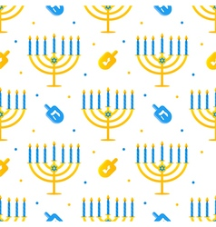 Hanukkah holiday seamless pattern background vector image vector image
