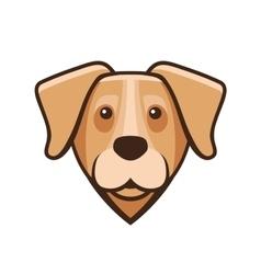 Labrador Retriever Dog Head Icon vector image vector image