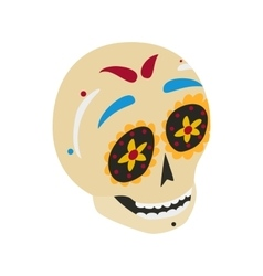 Mexican skull icon isometric 3d style vector image vector image