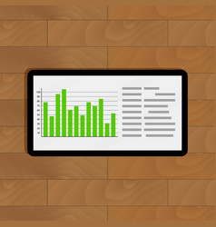 report chart on tablet vector image